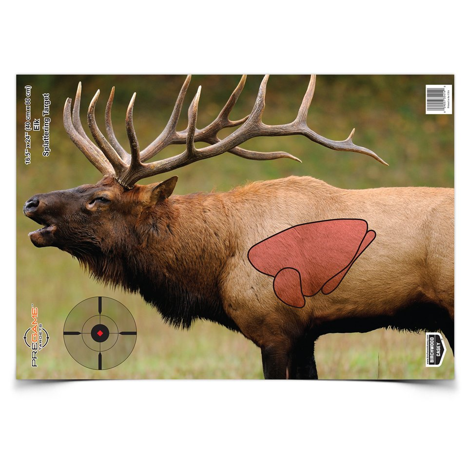 picture about Printable Deer Targets called Pregame Splattering Elk Searching Emphasis WOLF CREEK OUTFITTERS